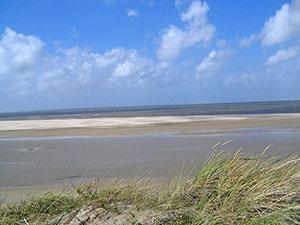 Insel Texel Sandbank am Leuchtturm